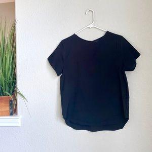 ICO Black Short Sleeve Blouse